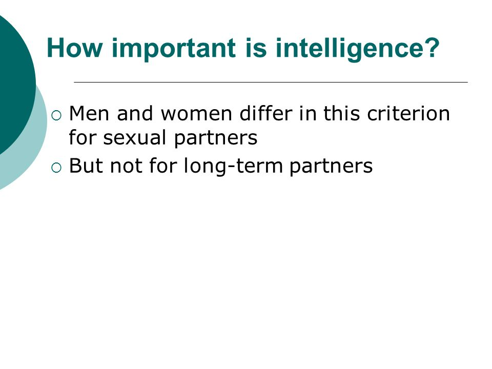 How important is intelligence