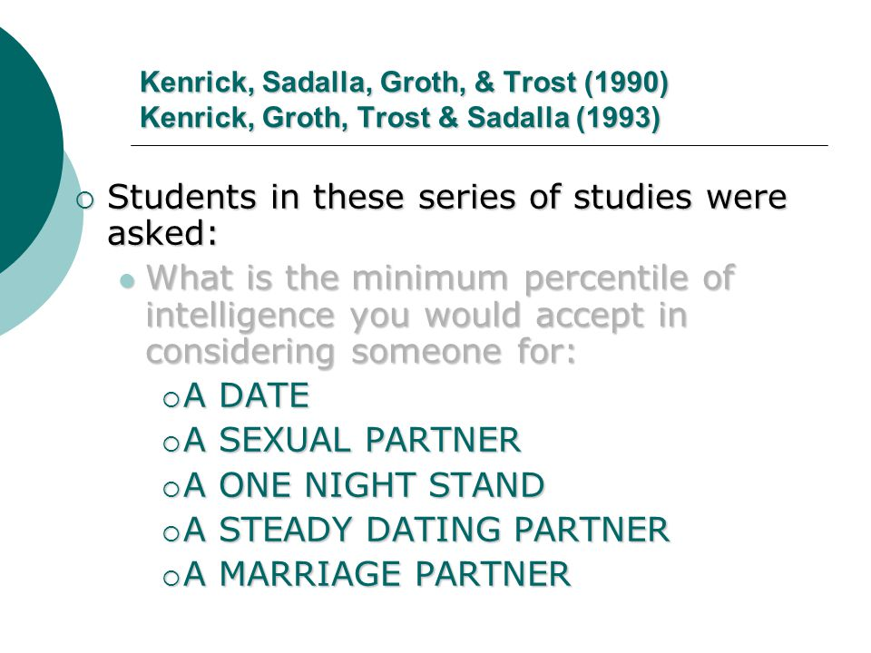 Students in these series of studies were asked: