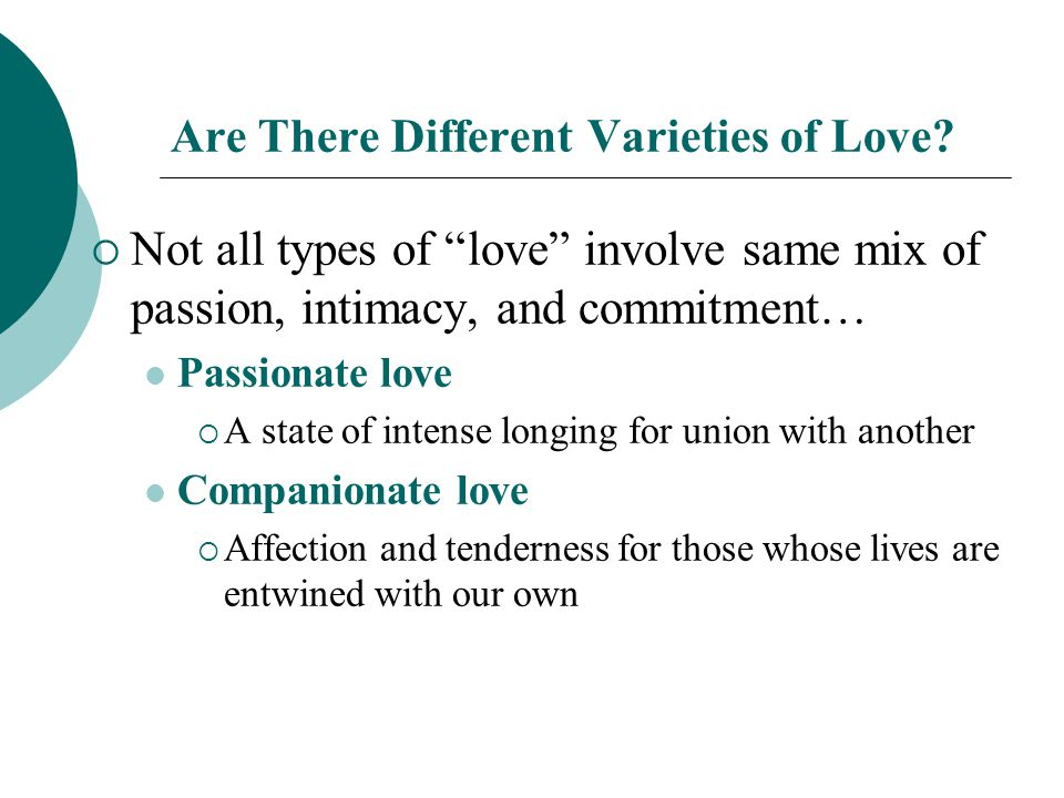 Are There Different Varieties of Love