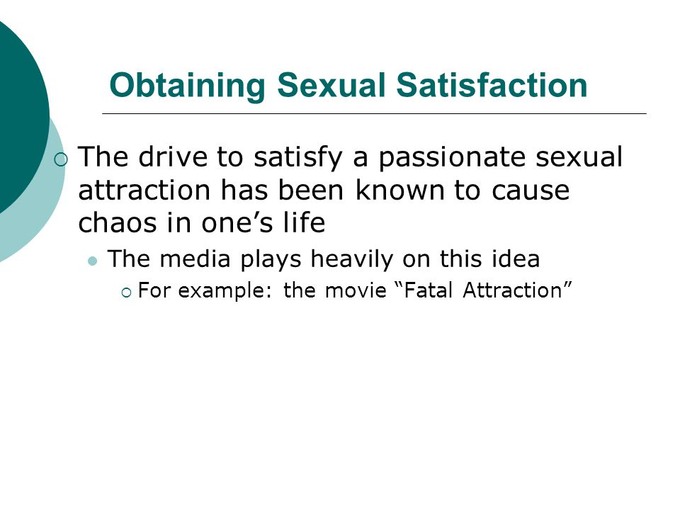 Obtaining Sexual Satisfaction