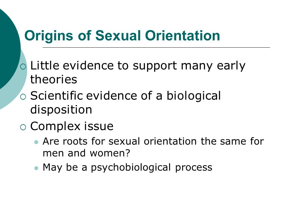 Origins of Sexual Orientation