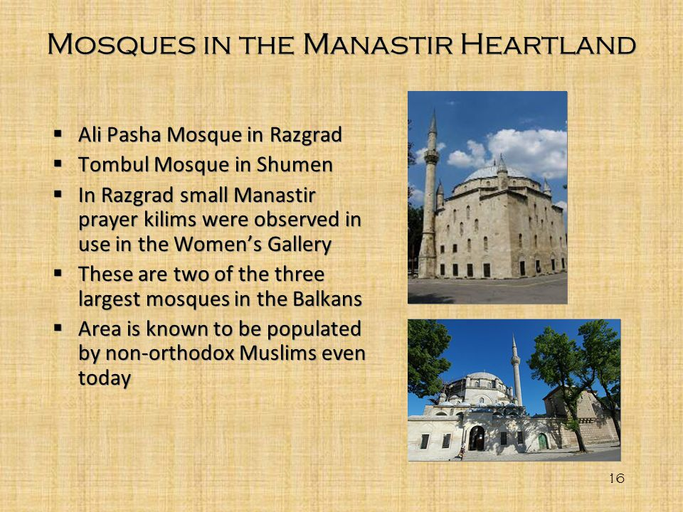 Mosques in the Manastir Heartland