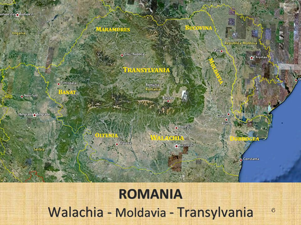 ROMANIA Walachia - Moldavia - Transylvania