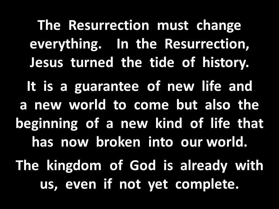 The Resurrection must change everything