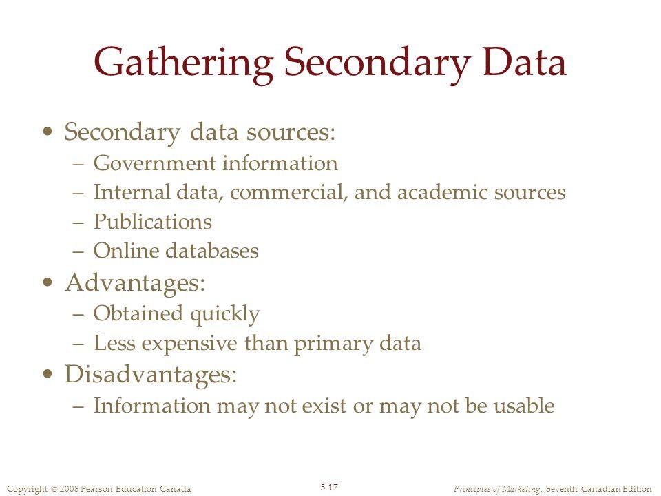 Gathering Secondary Data