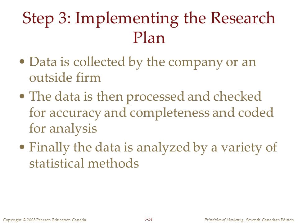 Step 3: Implementing the Research Plan