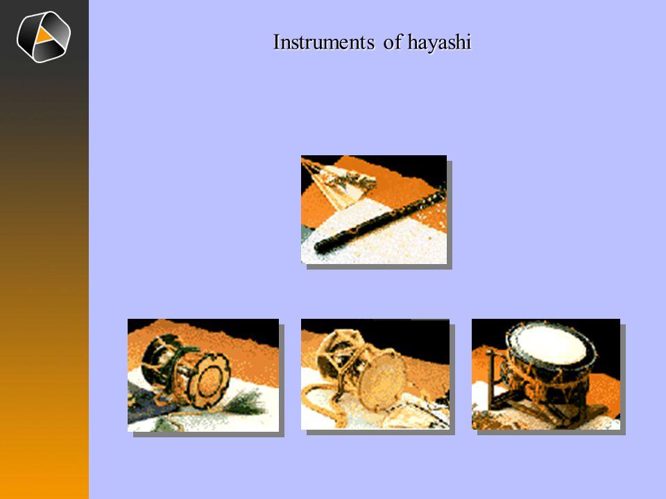 Instruments of hayashi