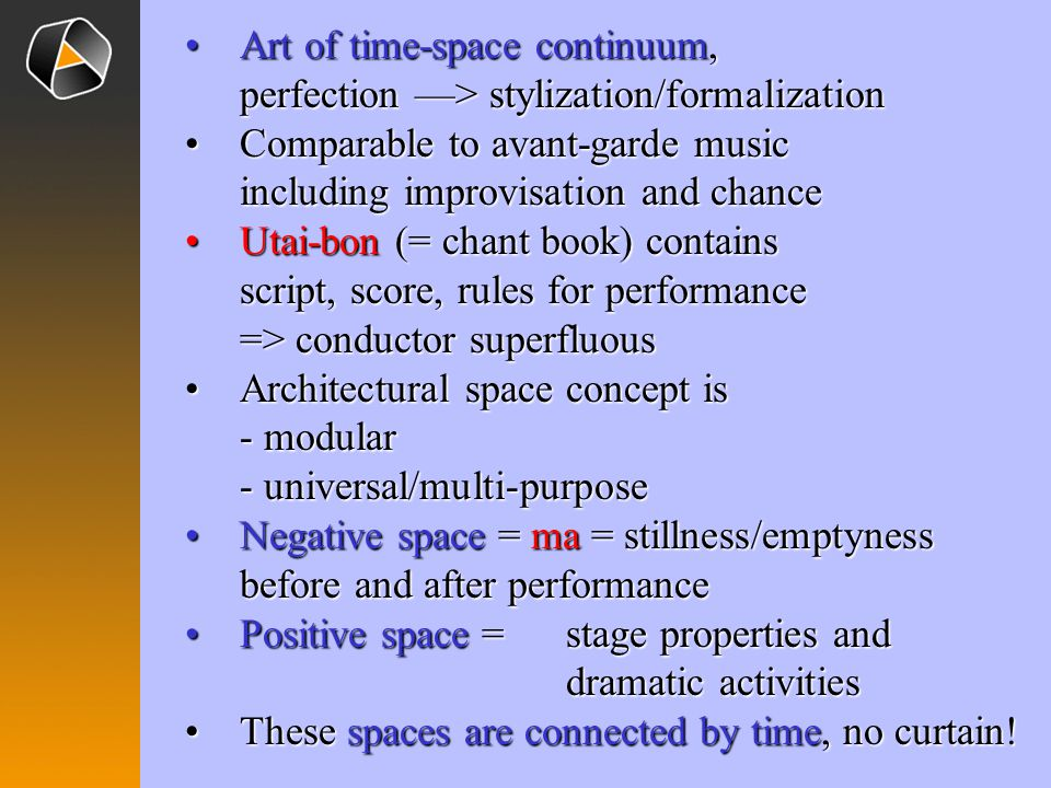 Art of time-space continuum,