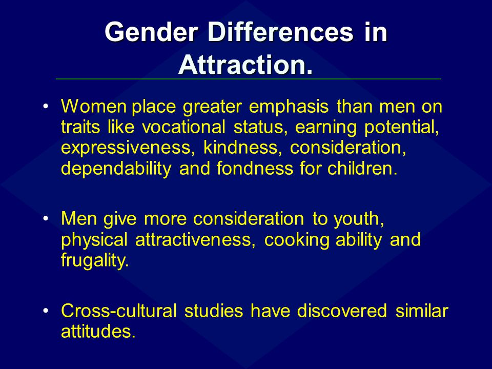 Gender Differences in Attraction.