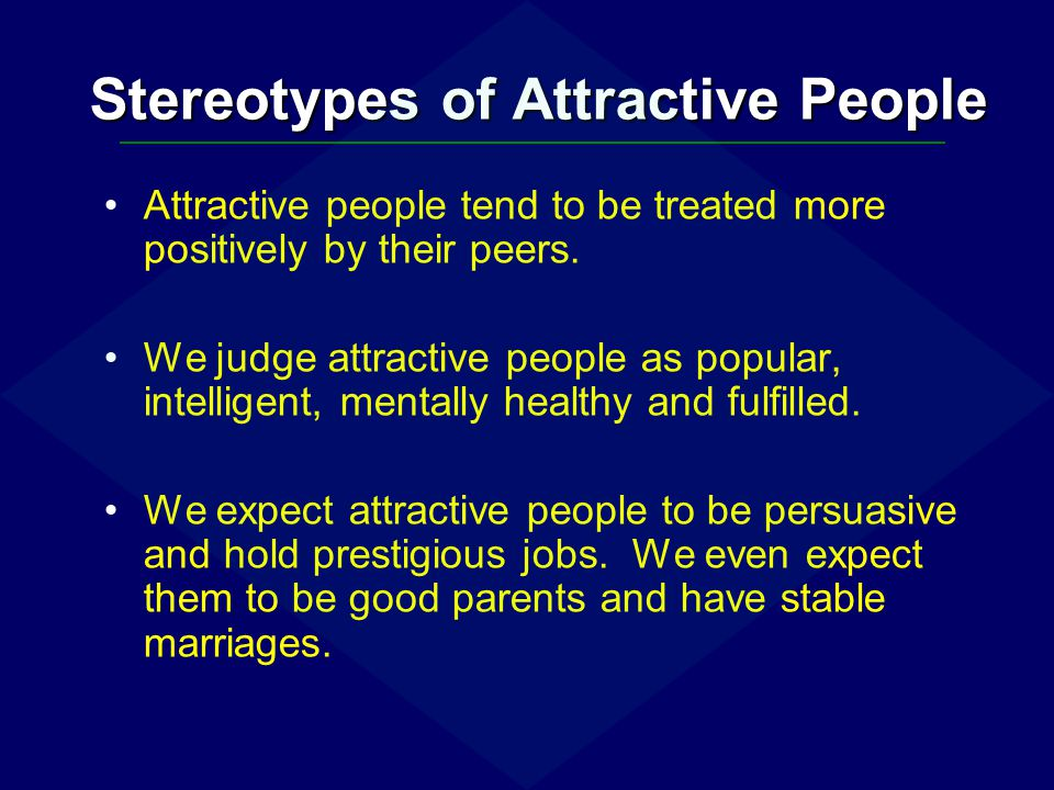 Stereotypes of Attractive People