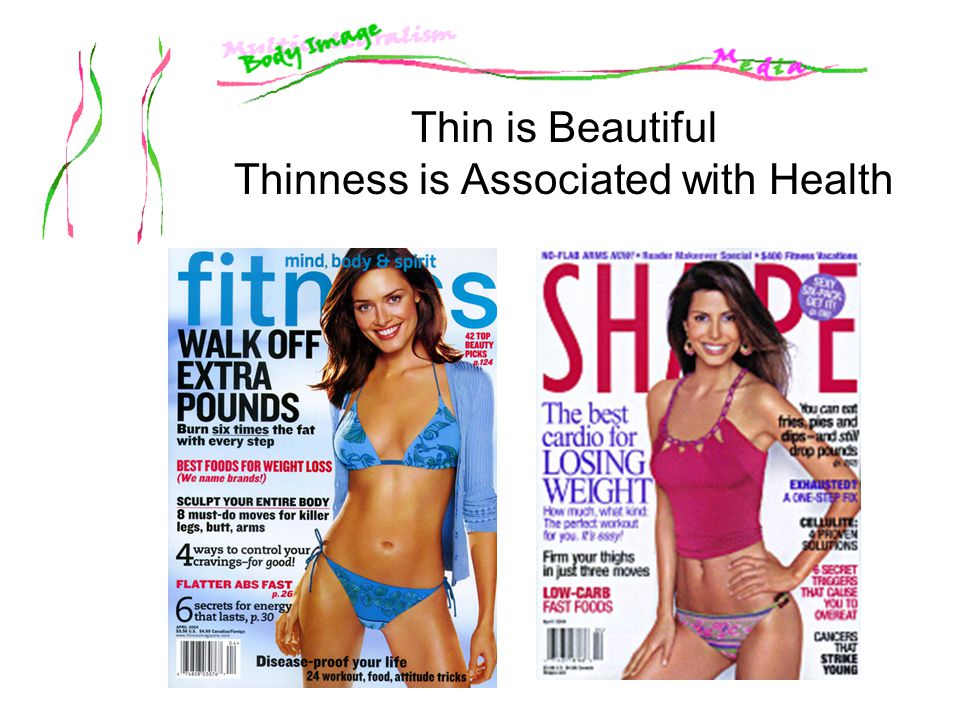 Thin is Beautiful Thinness is Associated with Health