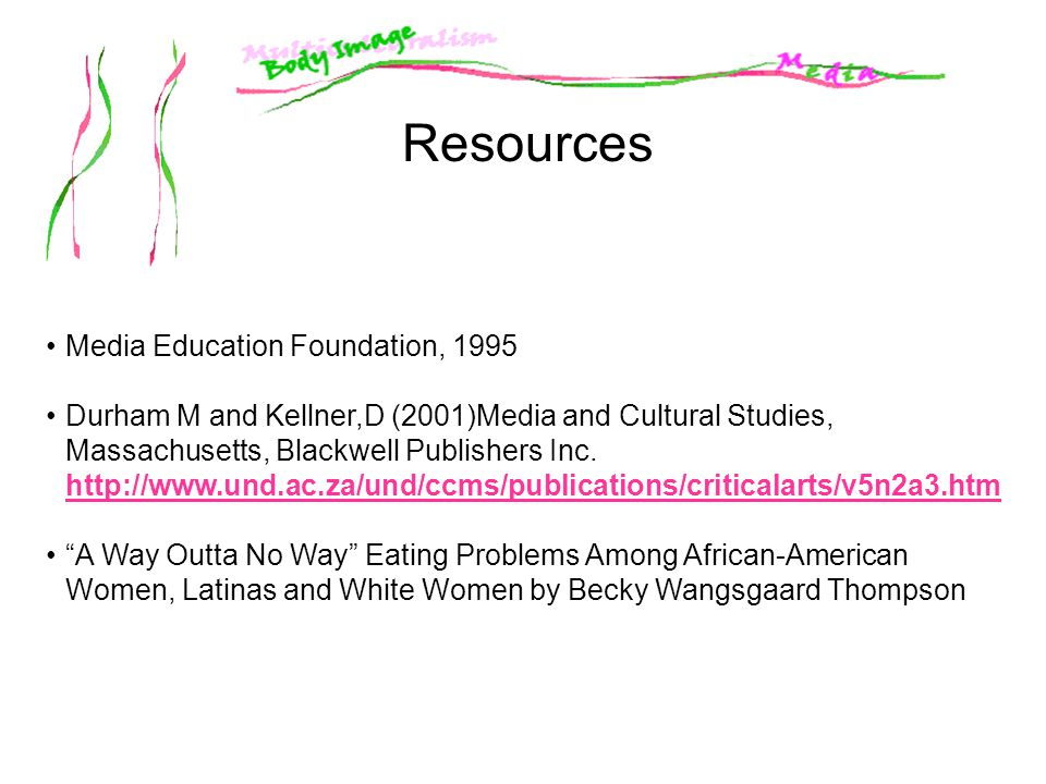 Resources Media Education Foundation, 1995