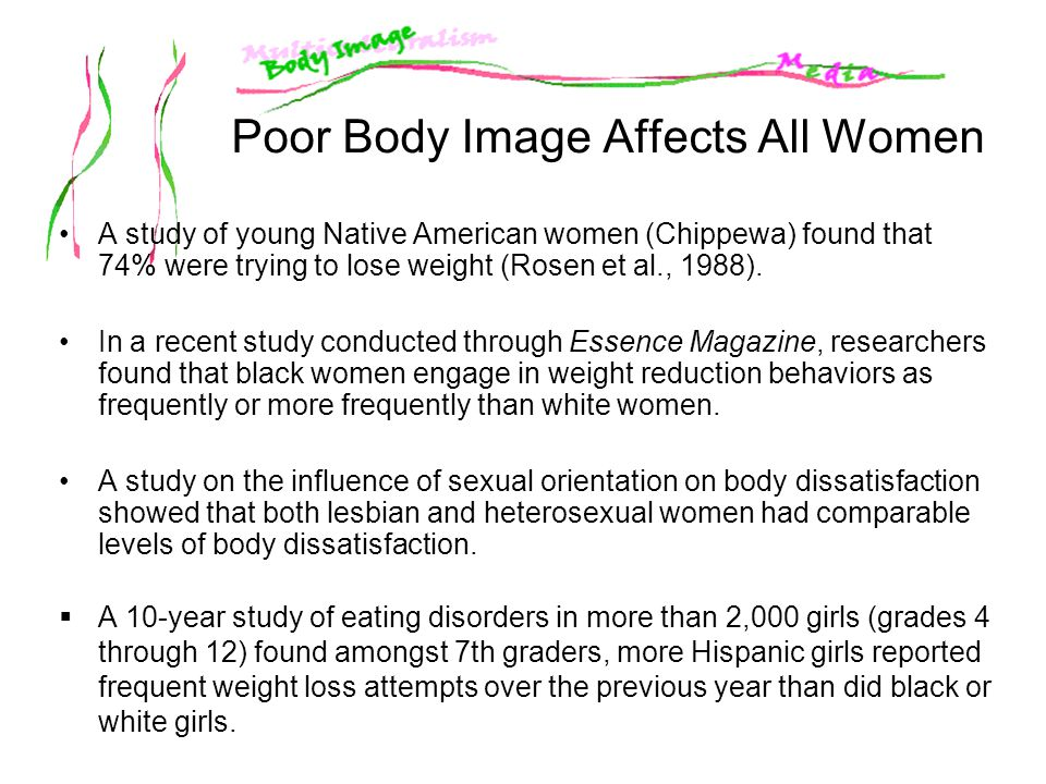 Poor Body Image Affects All Women