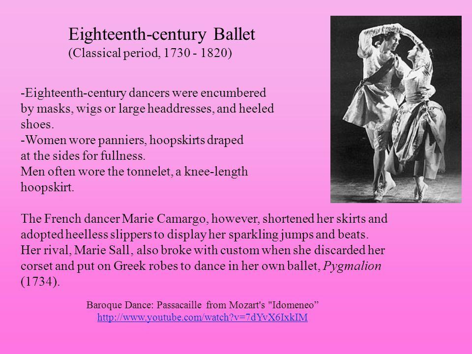 Eighteenth-century Ballet (Classical period, 1730 - 1820)