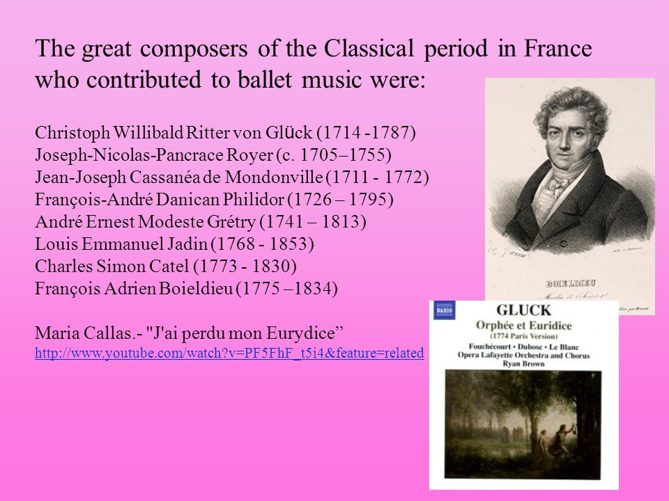 The great composers of the Classical period in France