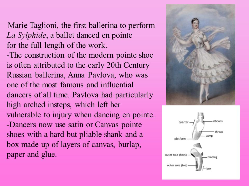 Marie Taglioni, the first ballerina to perform