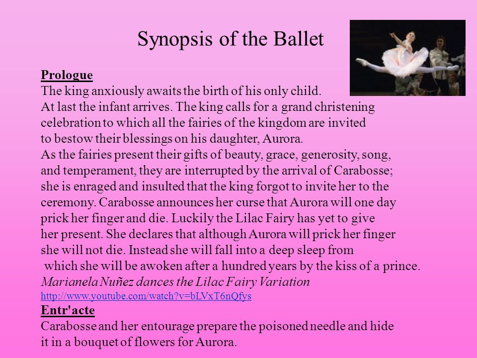 Synopsis of the Ballet Prologue