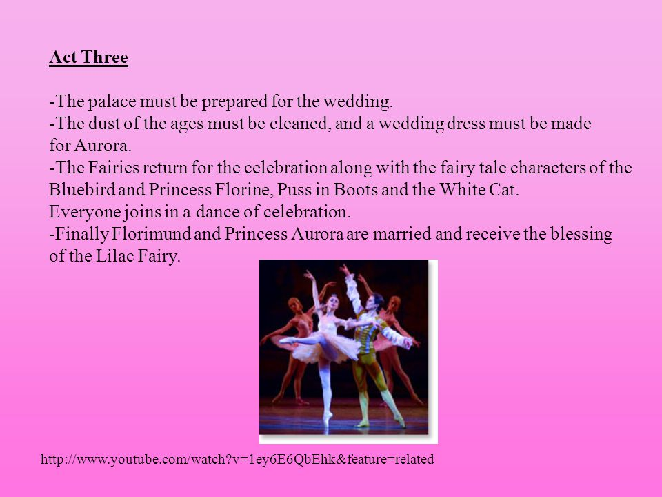 -The palace must be prepared for the wedding.