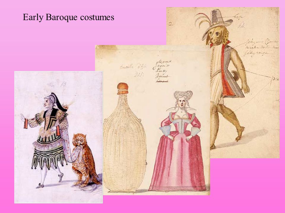 Early Baroque costumes
