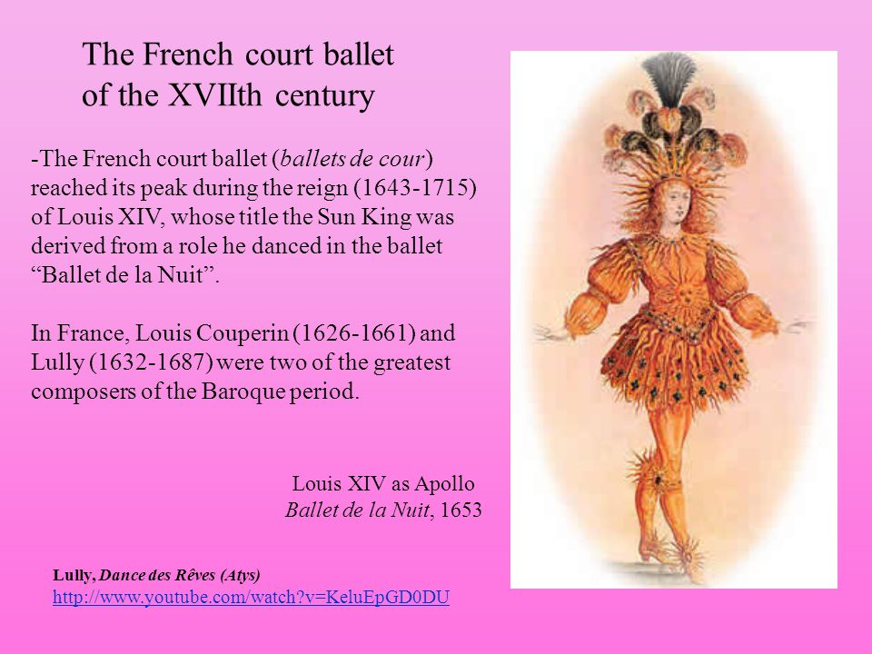 The French court ballet of the XVIIth century