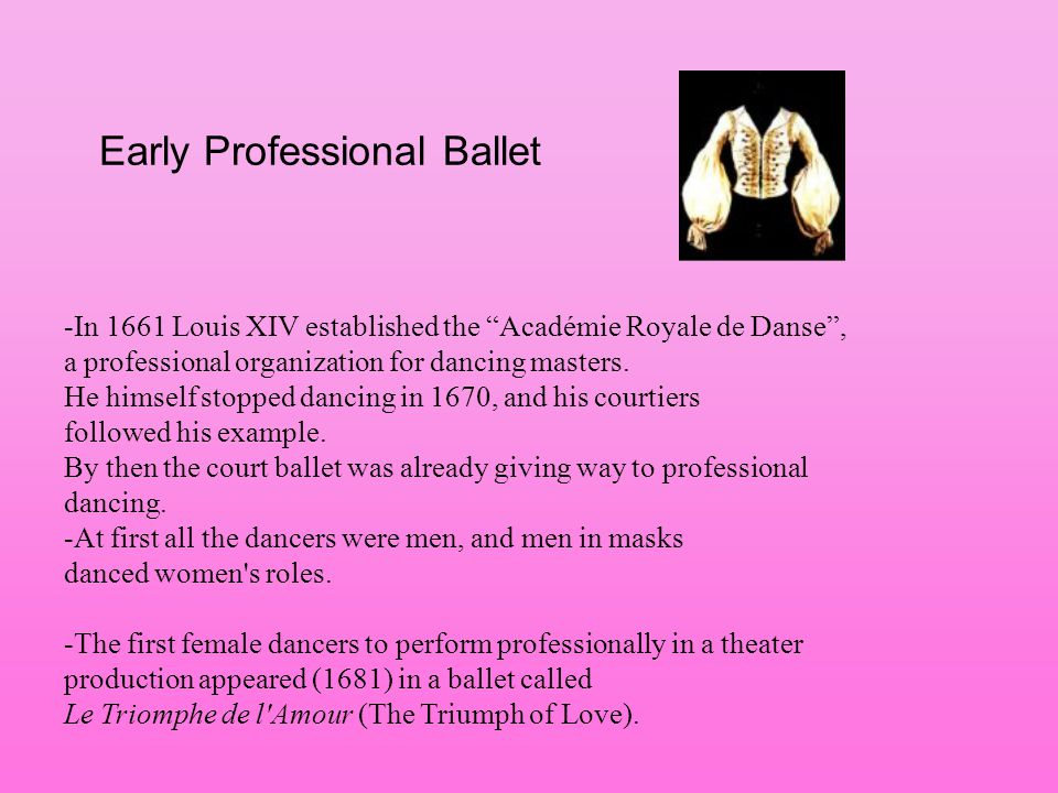 Early Professional Ballet