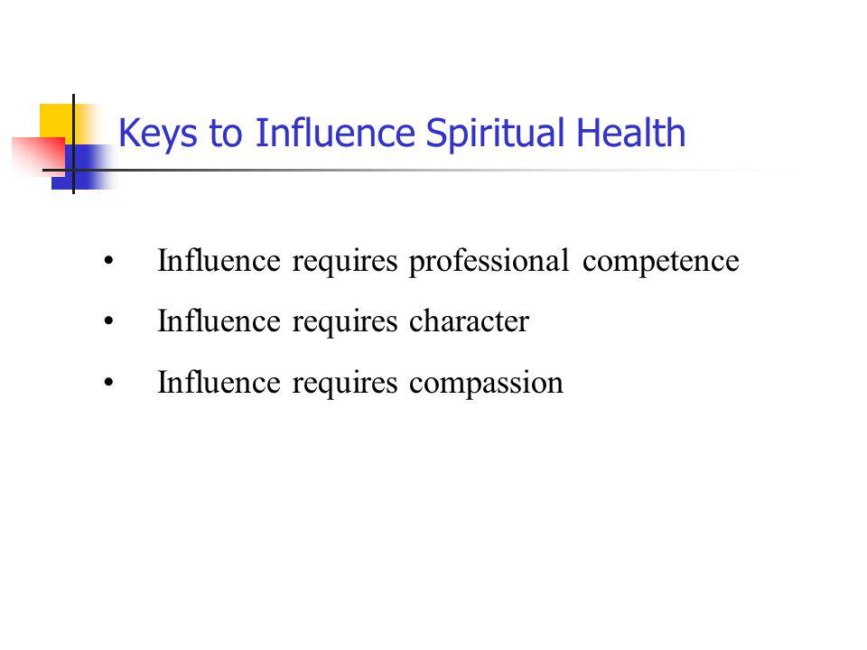 Keys to Influence Spiritual Health