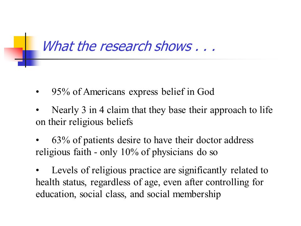 What the research shows . . .