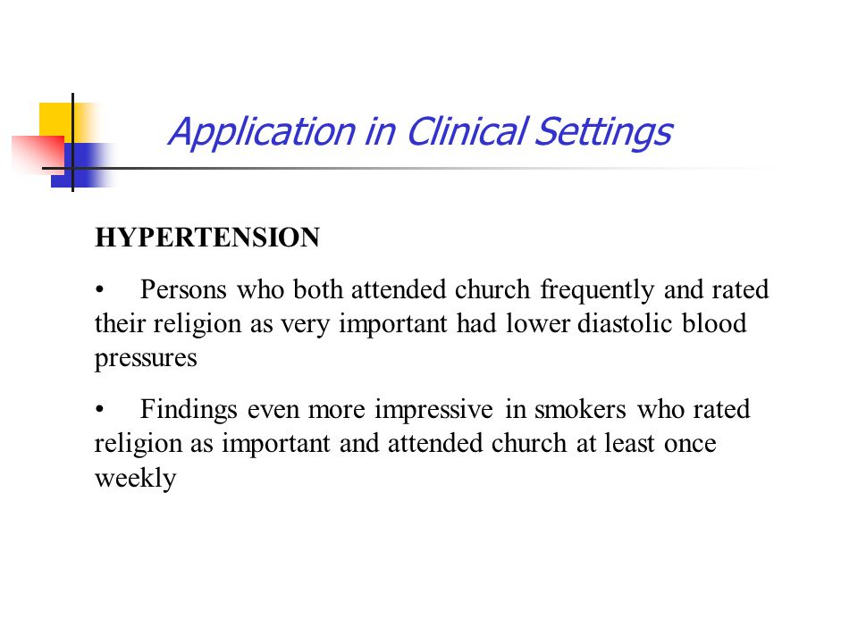Application in Clinical Settings