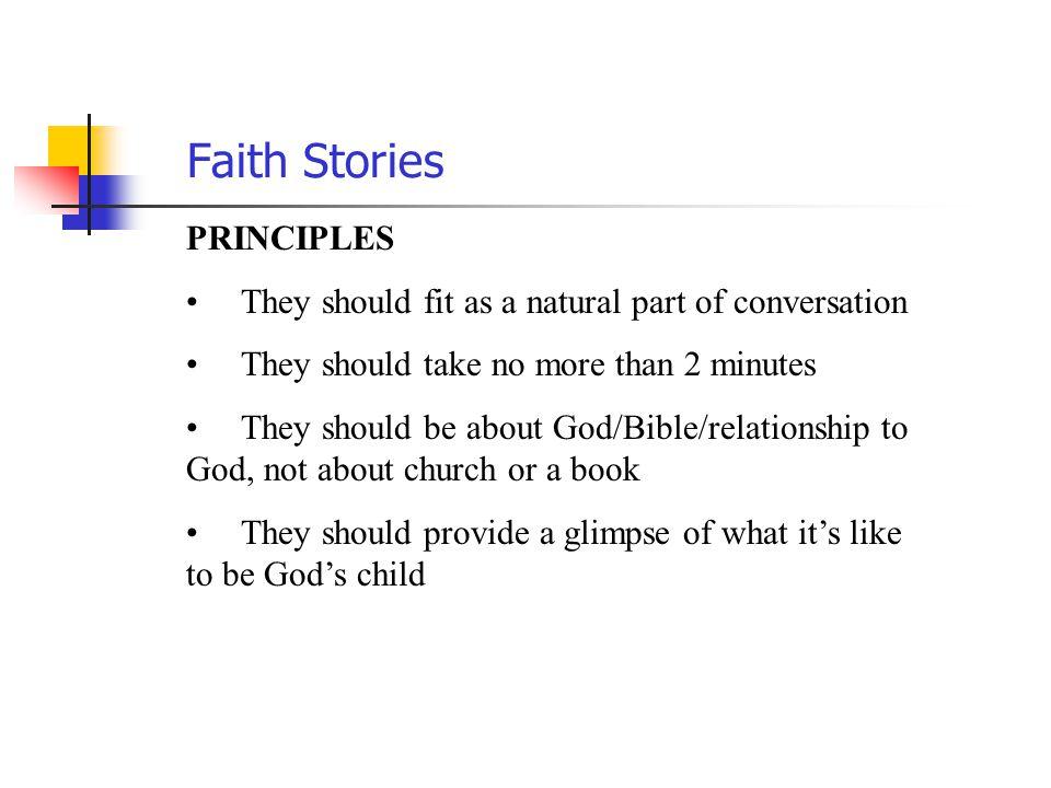 Faith Stories PRINCIPLES
