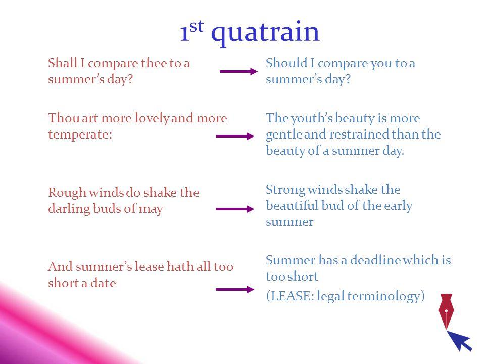 1st quatrain