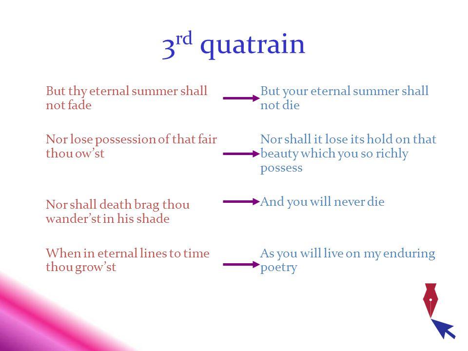 3rd quatrain