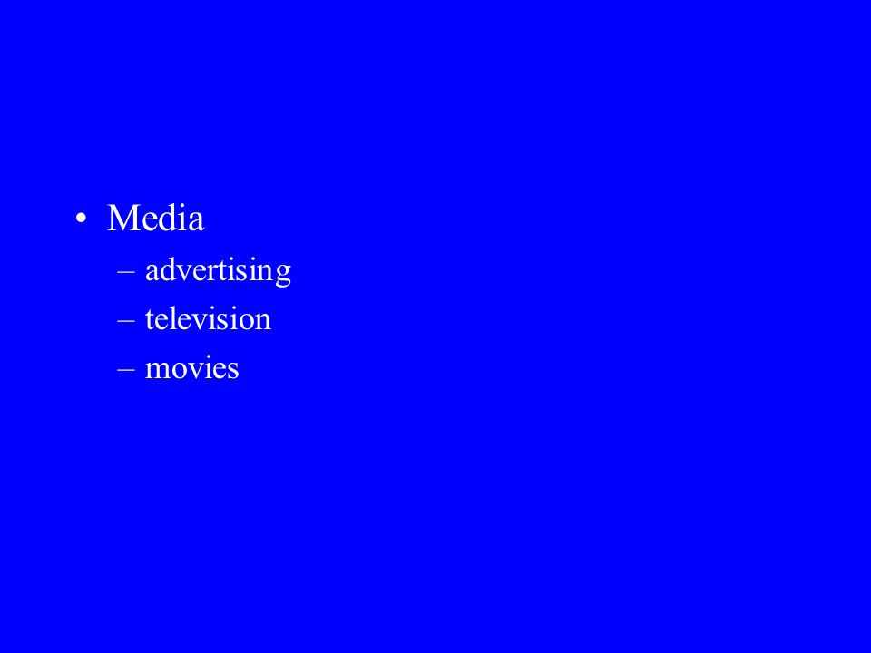 Media advertising television movies