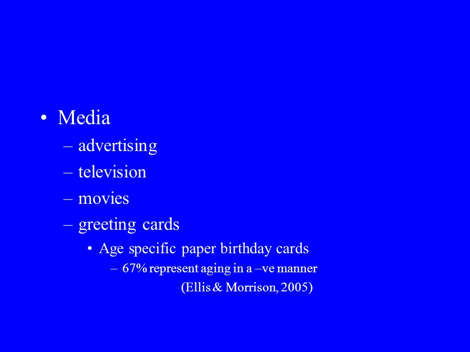 Media advertising television movies greeting cards