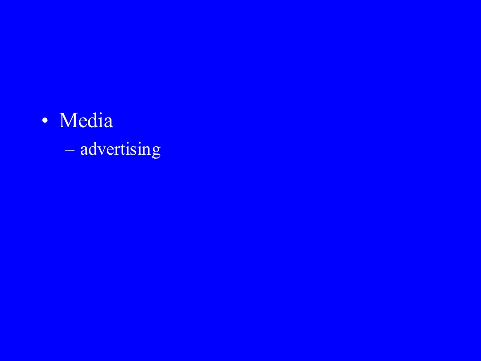 Media advertising