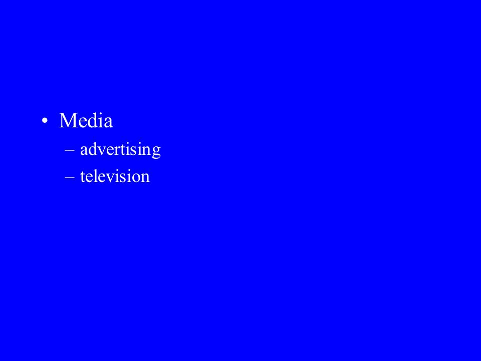 Media advertising television