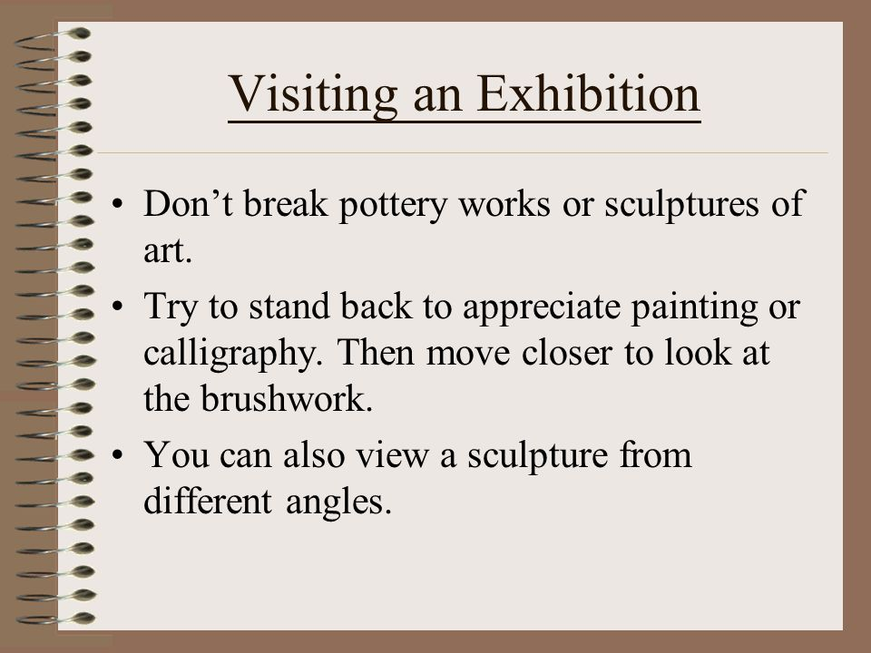 Visiting an Exhibition