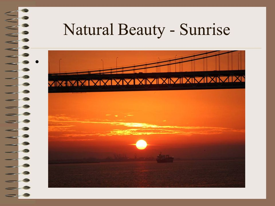 Natural Beauty - Sunrise