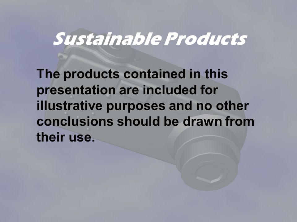 Sustainable Products
