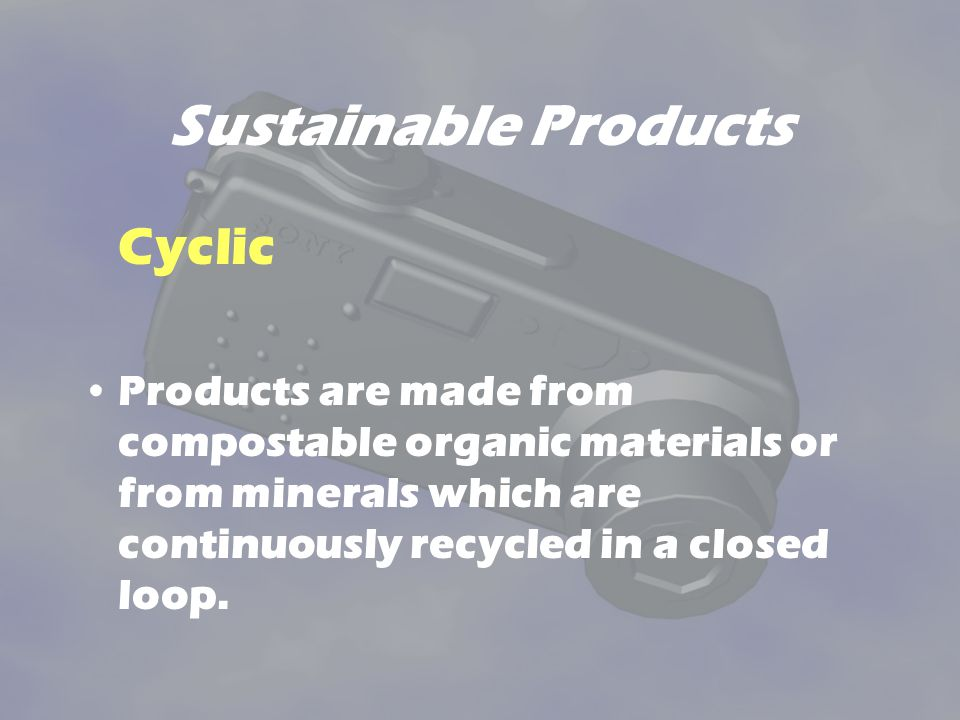 Sustainable Products Cyclic