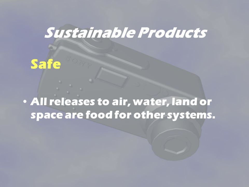 Sustainable Products Safe
