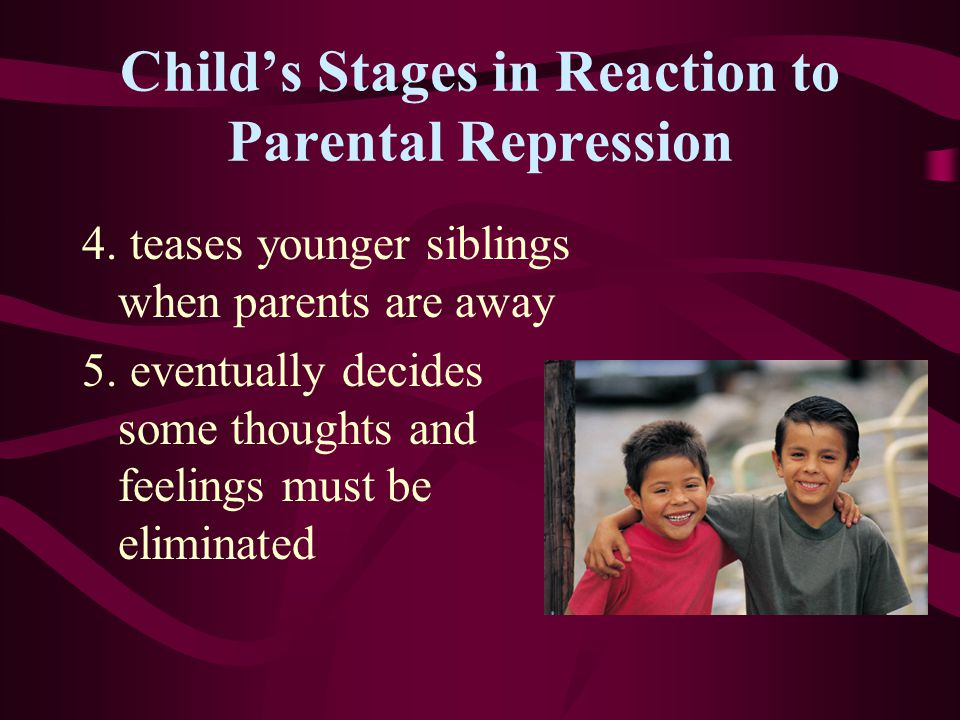 Child's Stages in Reaction to Parental Repression