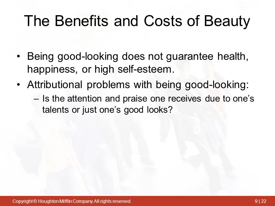 The Benefits and Costs of Beauty