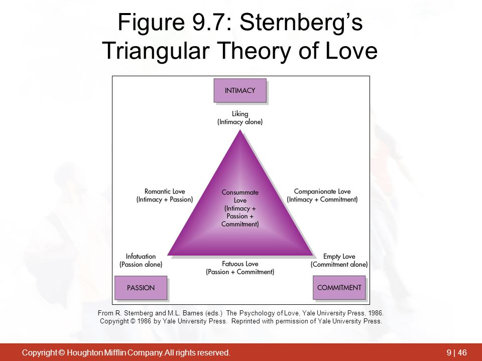 Figure 9.7: Sternberg's Triangular Theory of Love