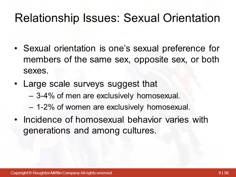 Relationship Issues: Sexual Orientation
