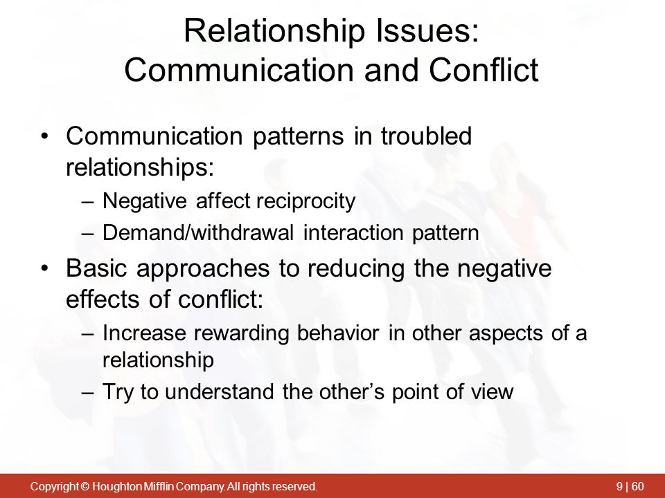 Relationship Issues: Communication and Conflict