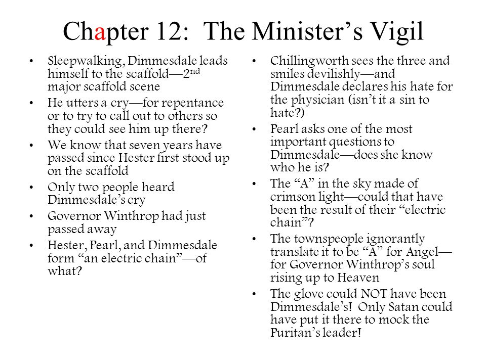 Chapter 12: The Minister's Vigil