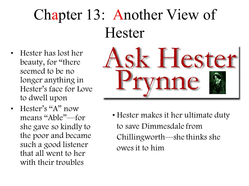 Chapter 13: Another View of Hester