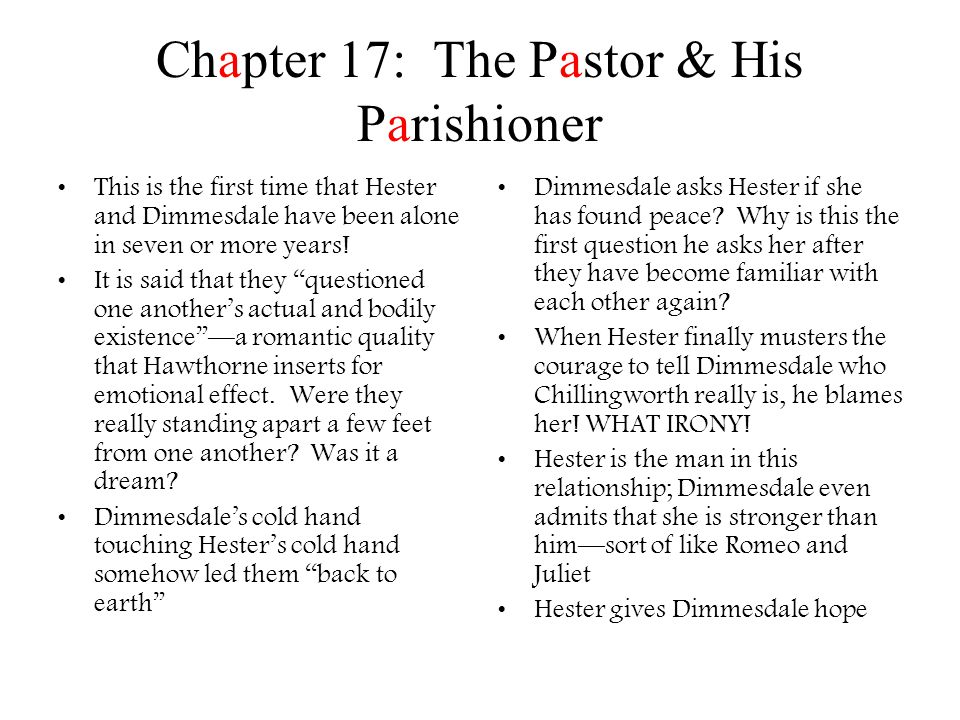 Chapter 17: The Pastor & His Parishioner