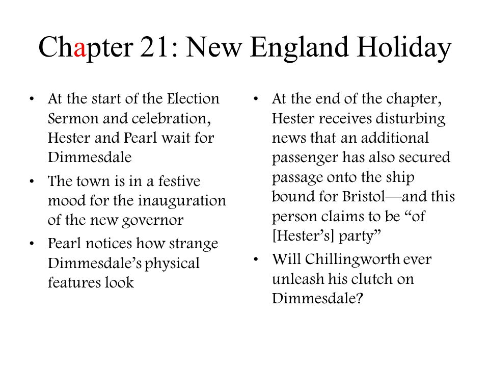 Chapter 21: New England Holiday