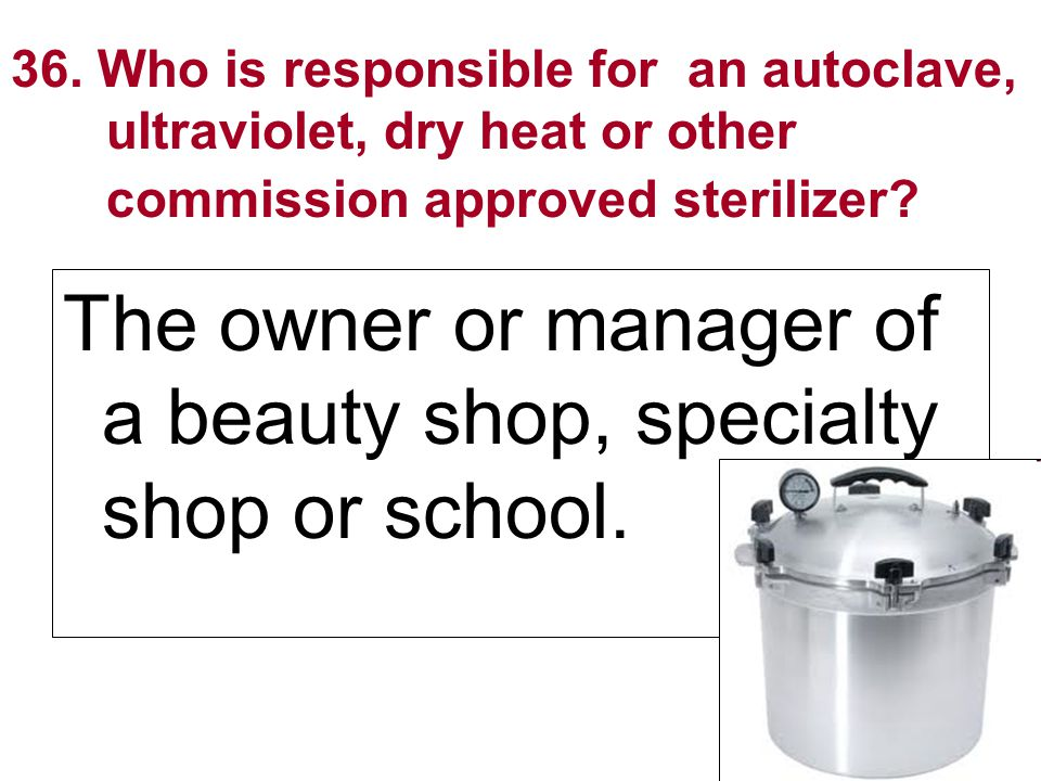 The owner or manager of a beauty shop, specialty shop or school.